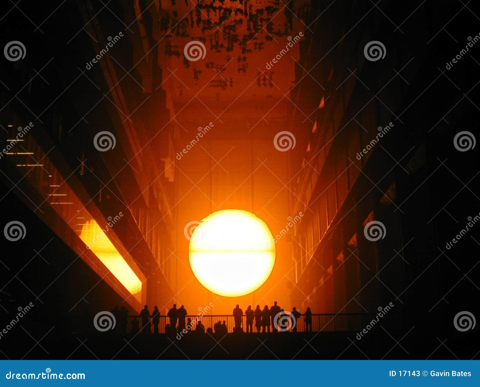 Sun set at the Tate Modern 2