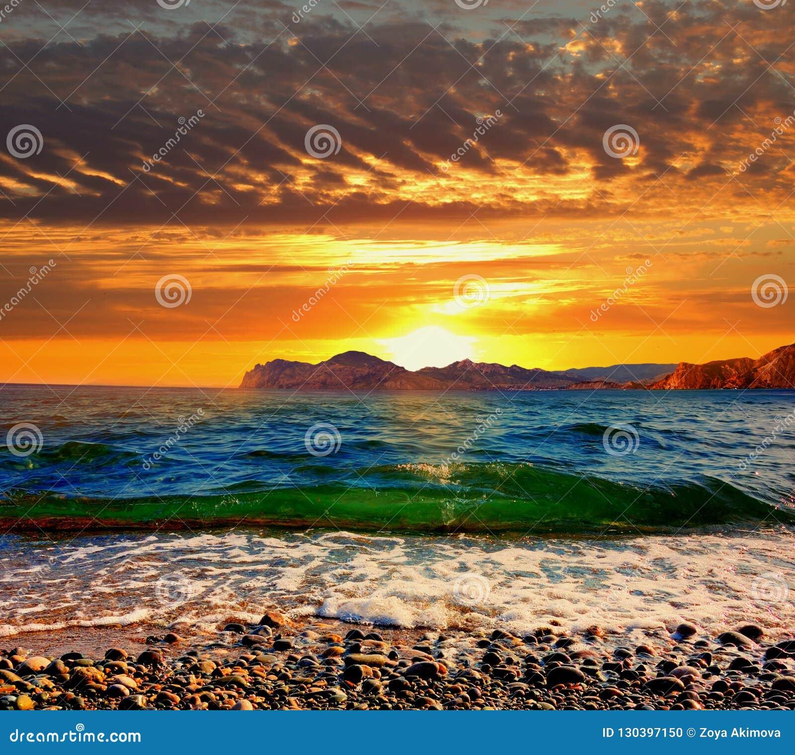 Sunset over Karadag