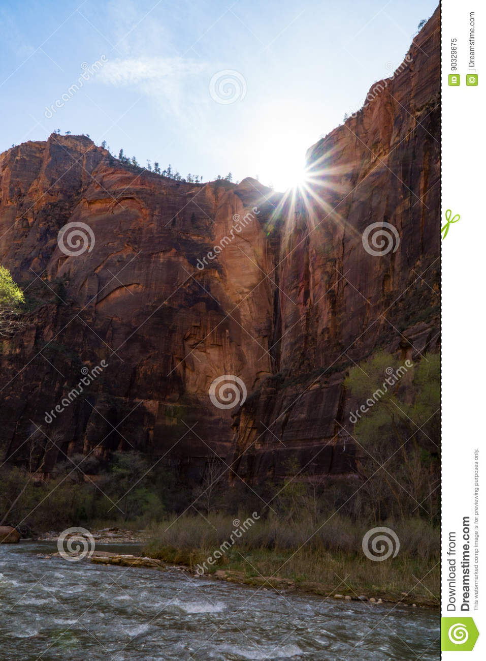 Sun Setting in Zion National Park