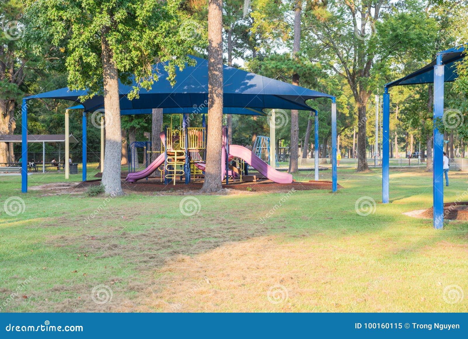 Shade Structure Playground Houston Texas Usa Stock Image Image