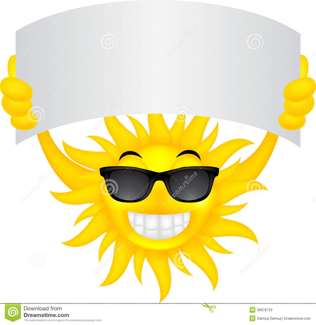 Sun with sign