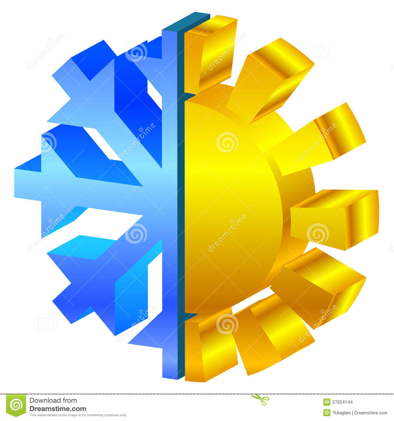 Sun & Snowflake Icon Stock Images - Image: 27054144
