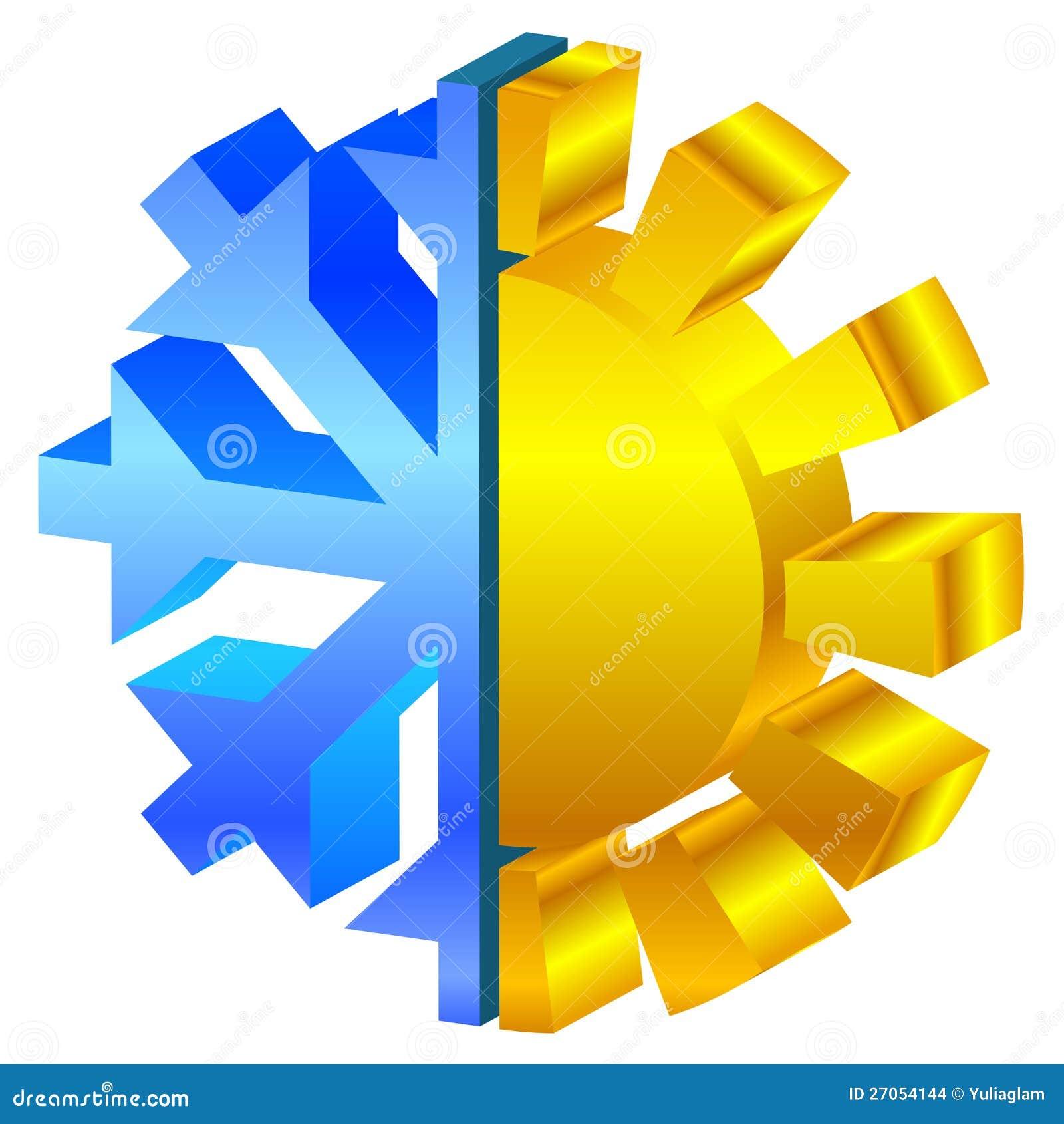Sun amp snowflake icon stock images image 27054144