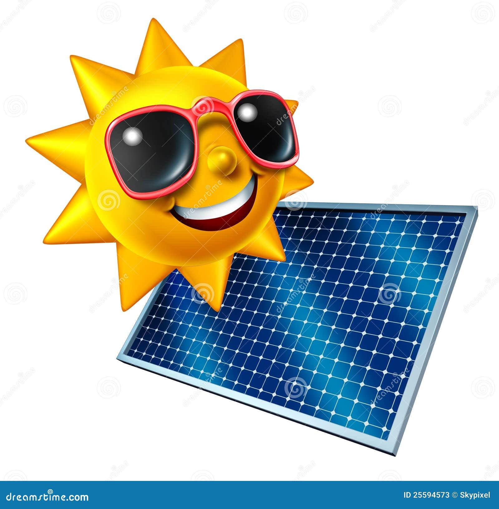 Sun With Solar Panel Stock Illustration Illustration Of