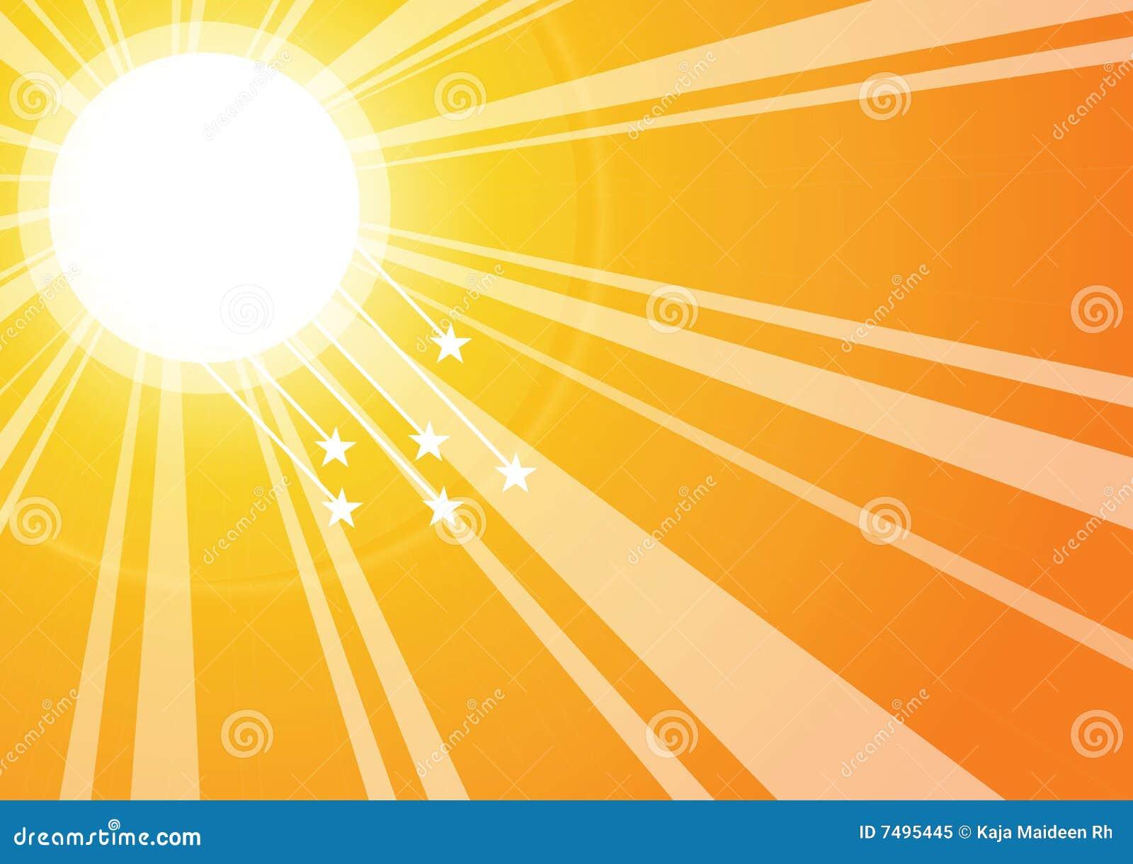 Sun-Strahlen