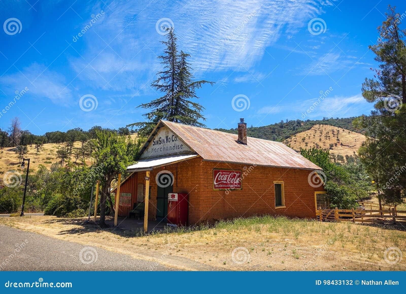 Sun Sun Wo Co Historic Site in Coulterville, California
