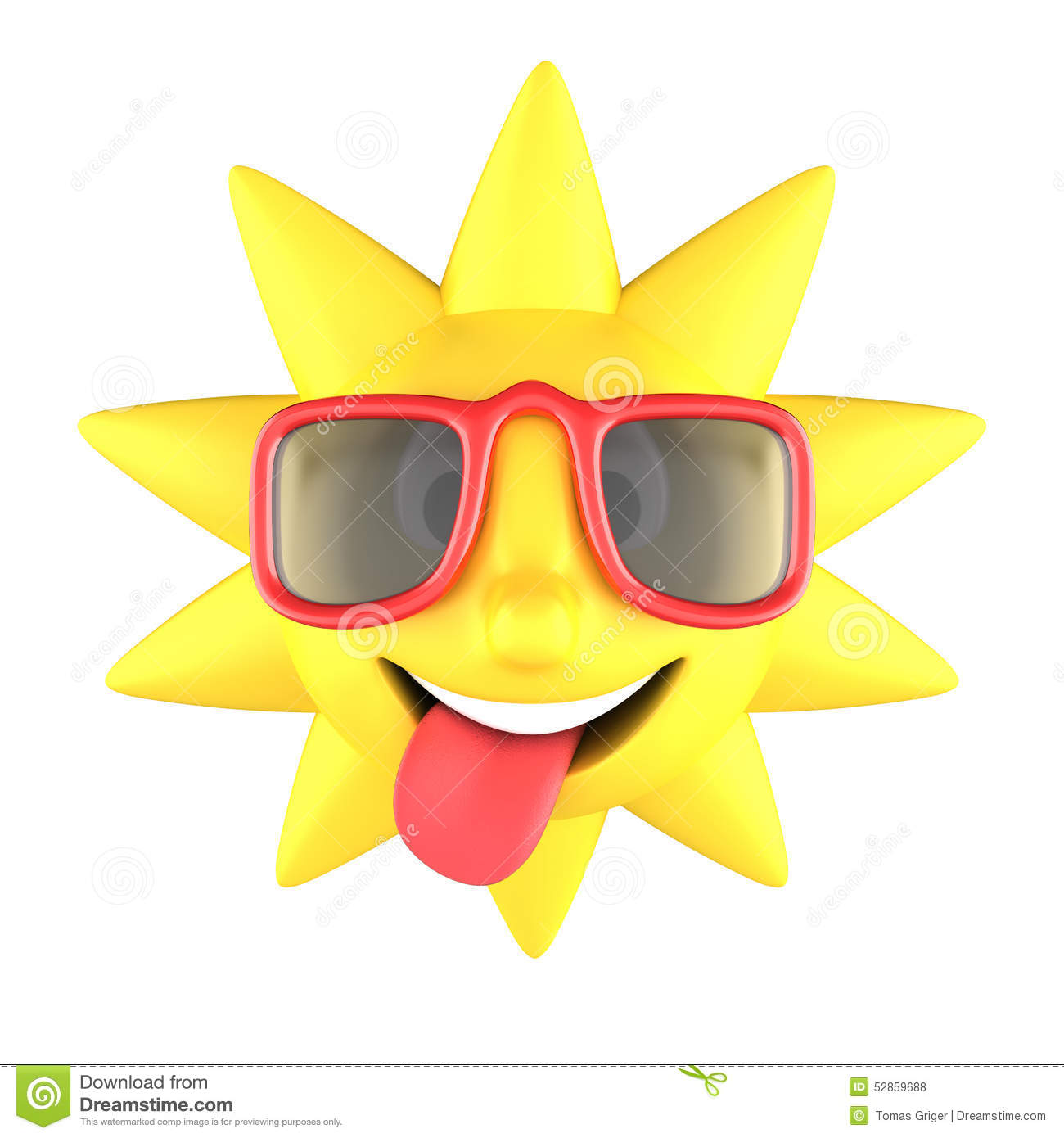Smiling sun with sunglasses - Royalty Free Illustration Download Sun With Sunglasses Smiling