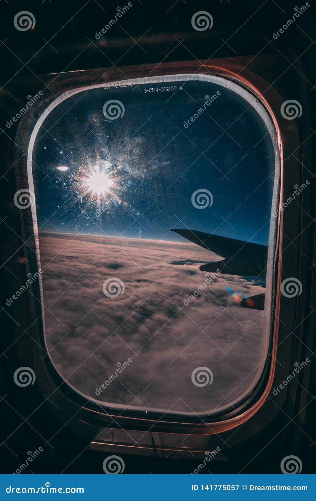 Sun sur un avion