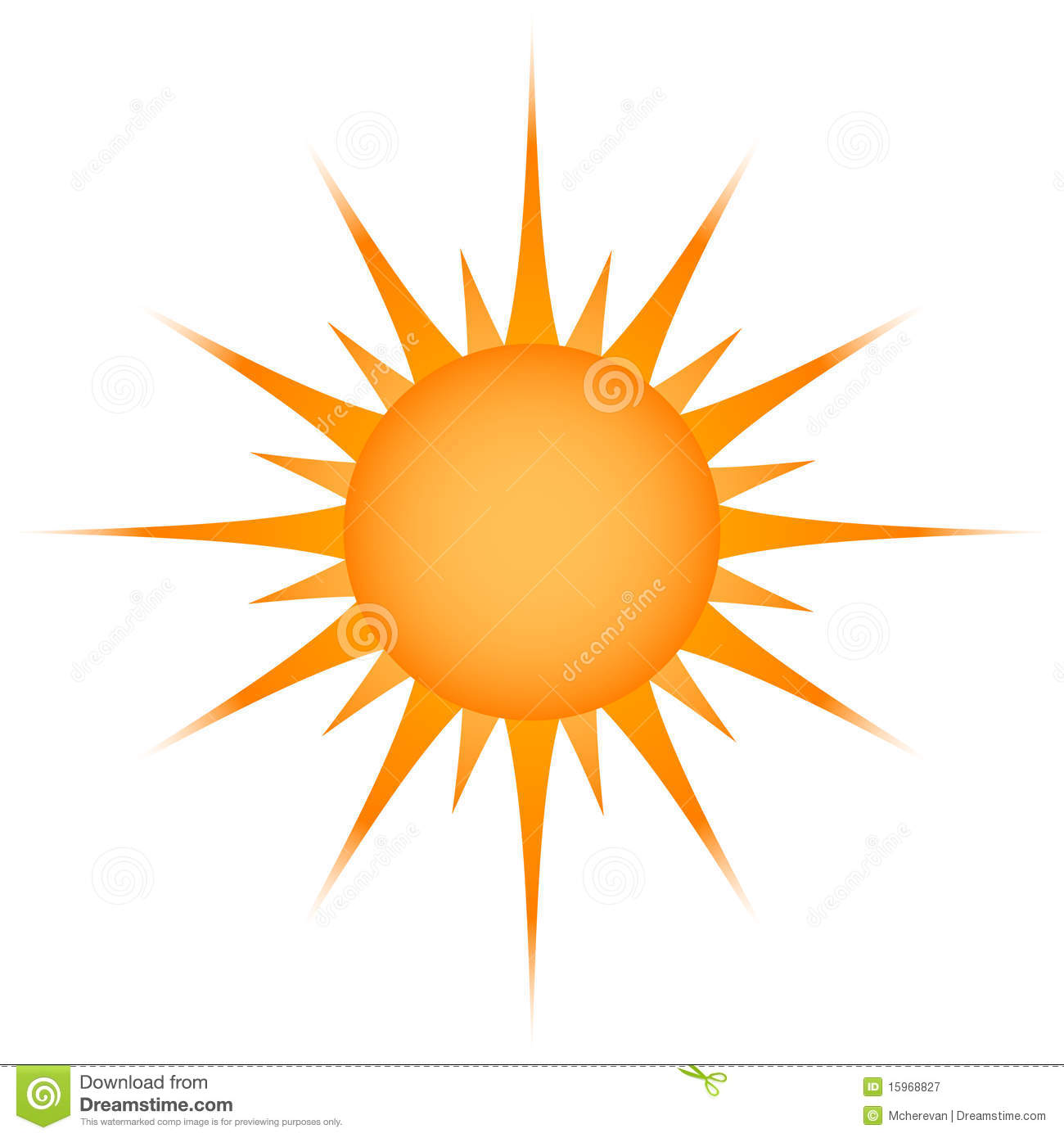 Sun Symbol. Royalty Free Stock Photography - Image: 15968827