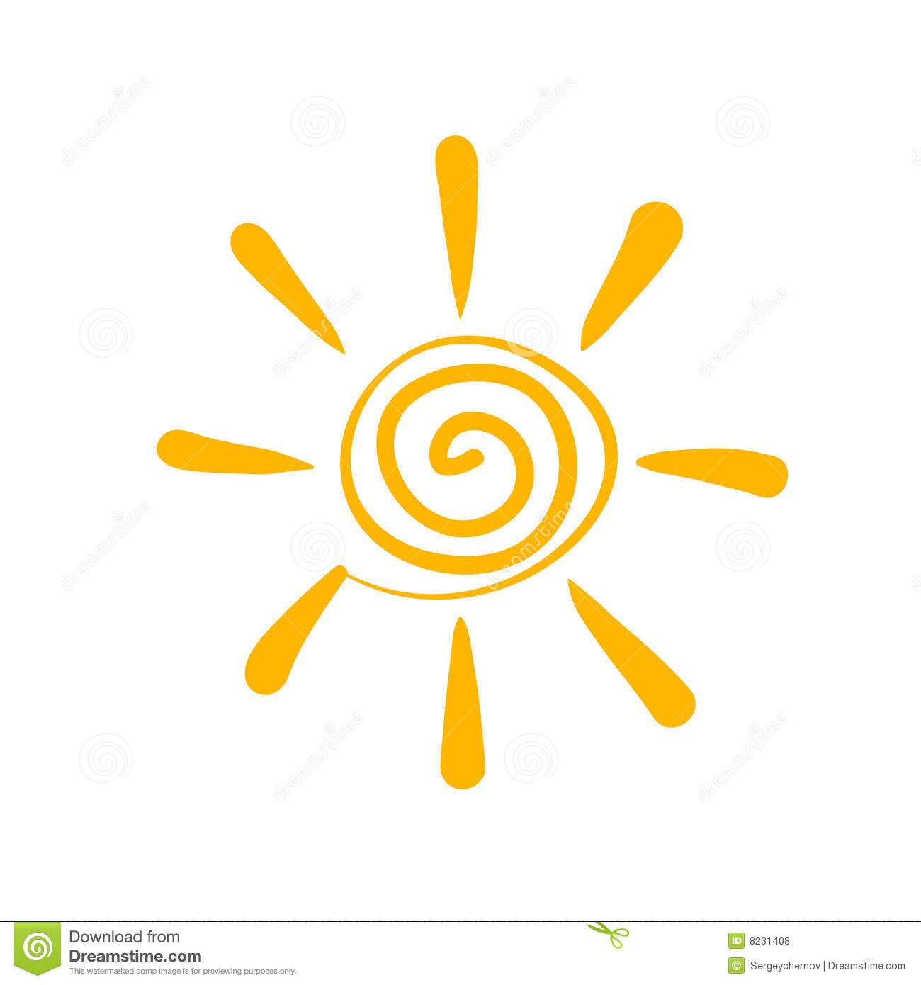 Sun Symbol Royalty Free Stock Photos - Image: 8231408