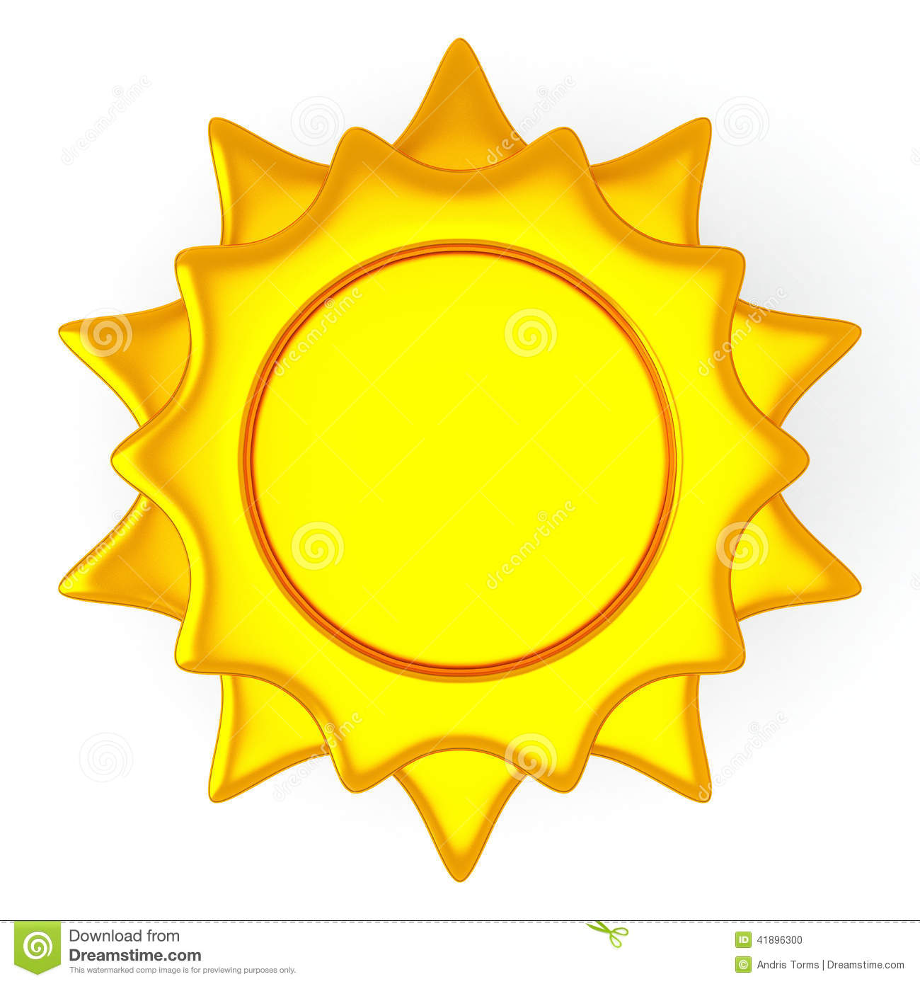 Golden sun symbol with...