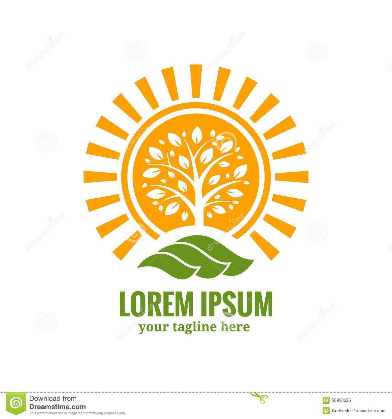 Sun tree logo template stock vector image 50930626 for Firm company