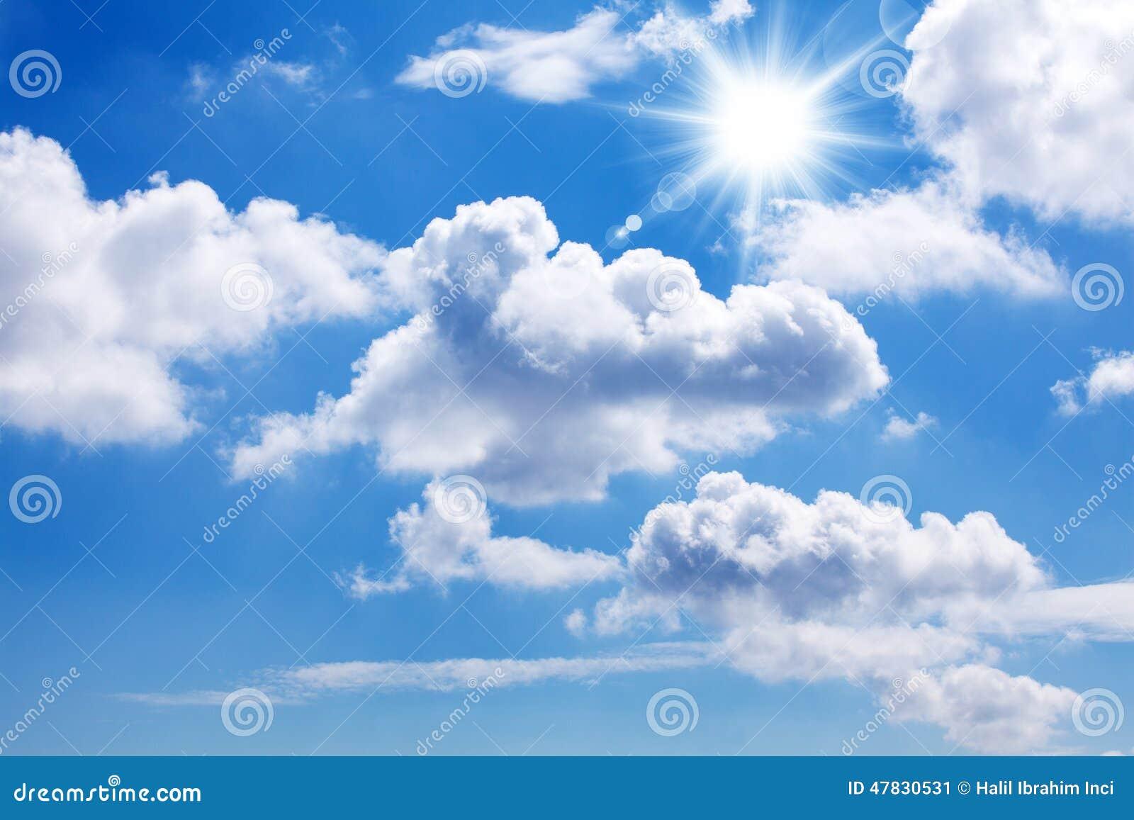 Sun und blauer Himmel