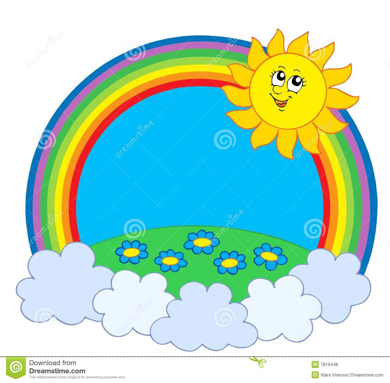 sun und wiese im regenbogen lizenzfreie stockfotos bild 7819448. Black Bedroom Furniture Sets. Home Design Ideas