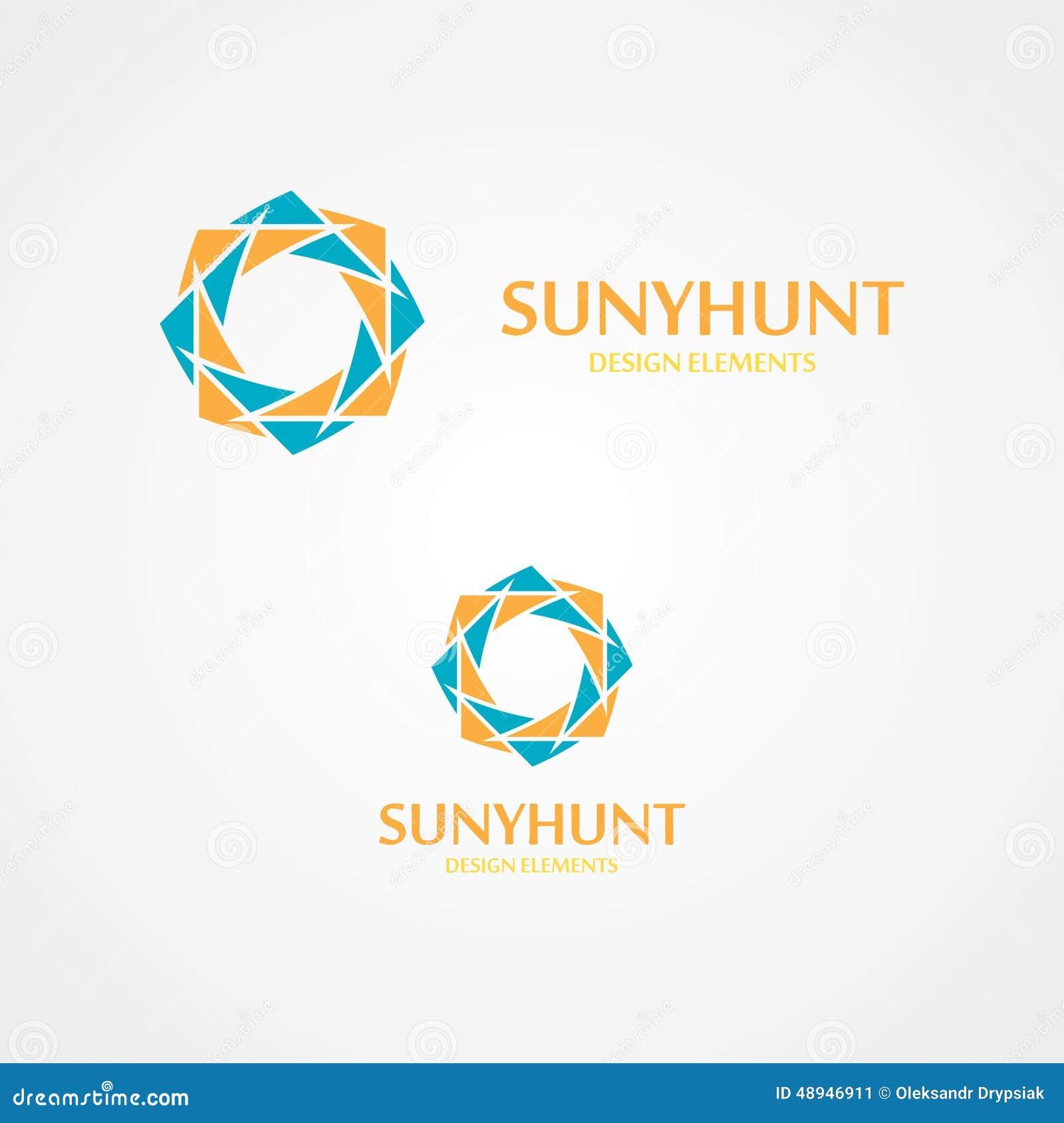 Sun Vector Logo With Business Card Template Stock Vector ...