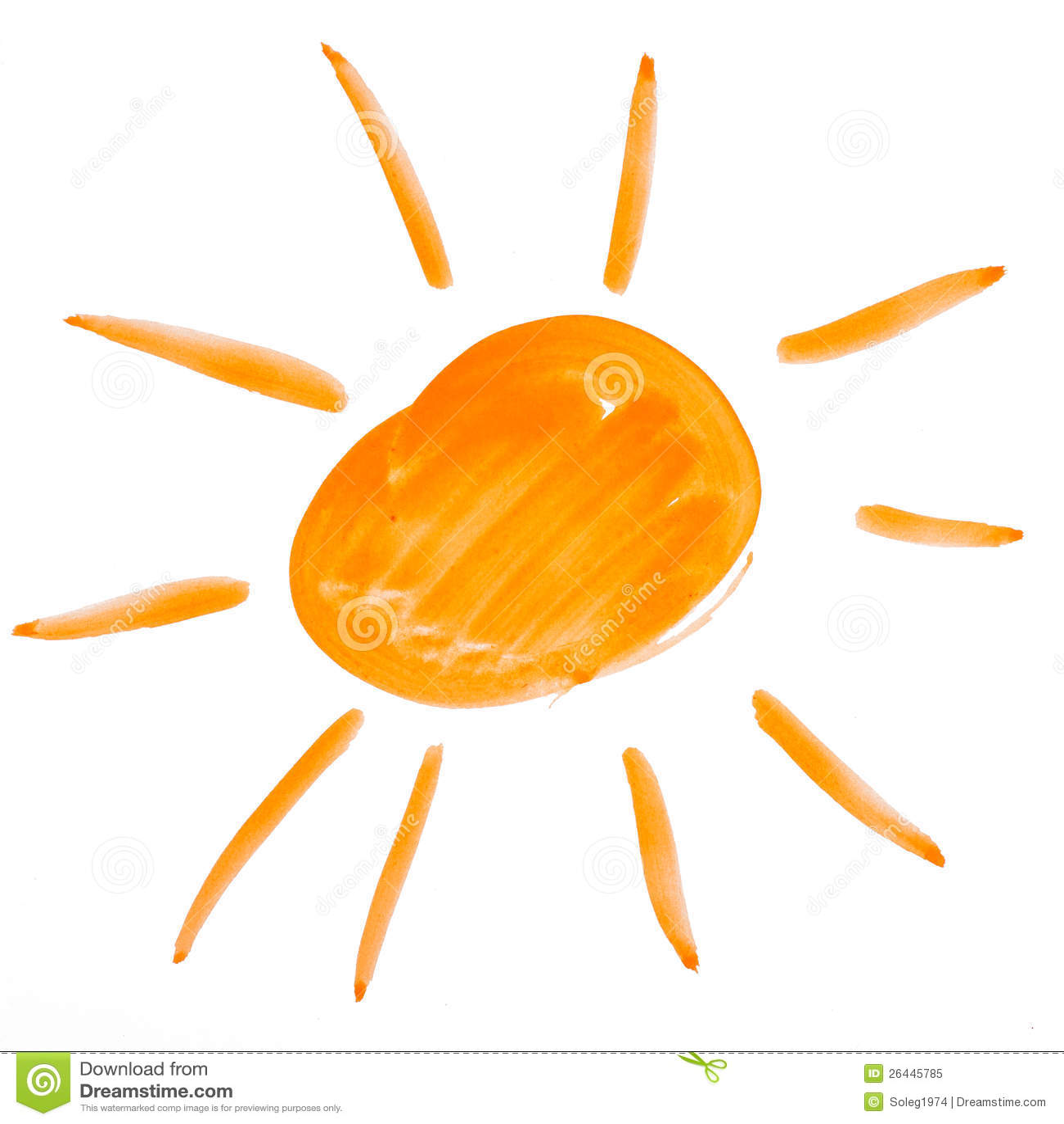 Uncategorized Drawing The Sun sun watercolor drawing paper 26445785 jpg