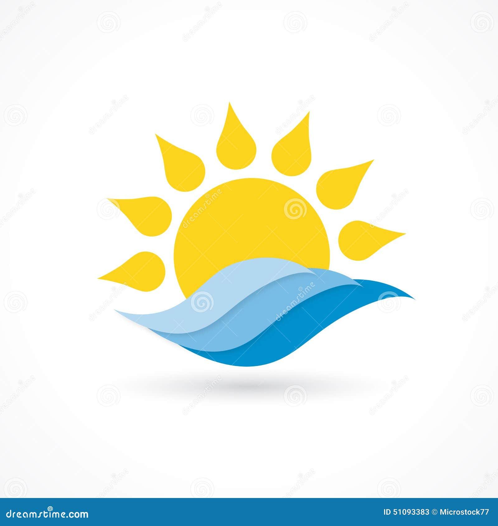 Sun wave icon