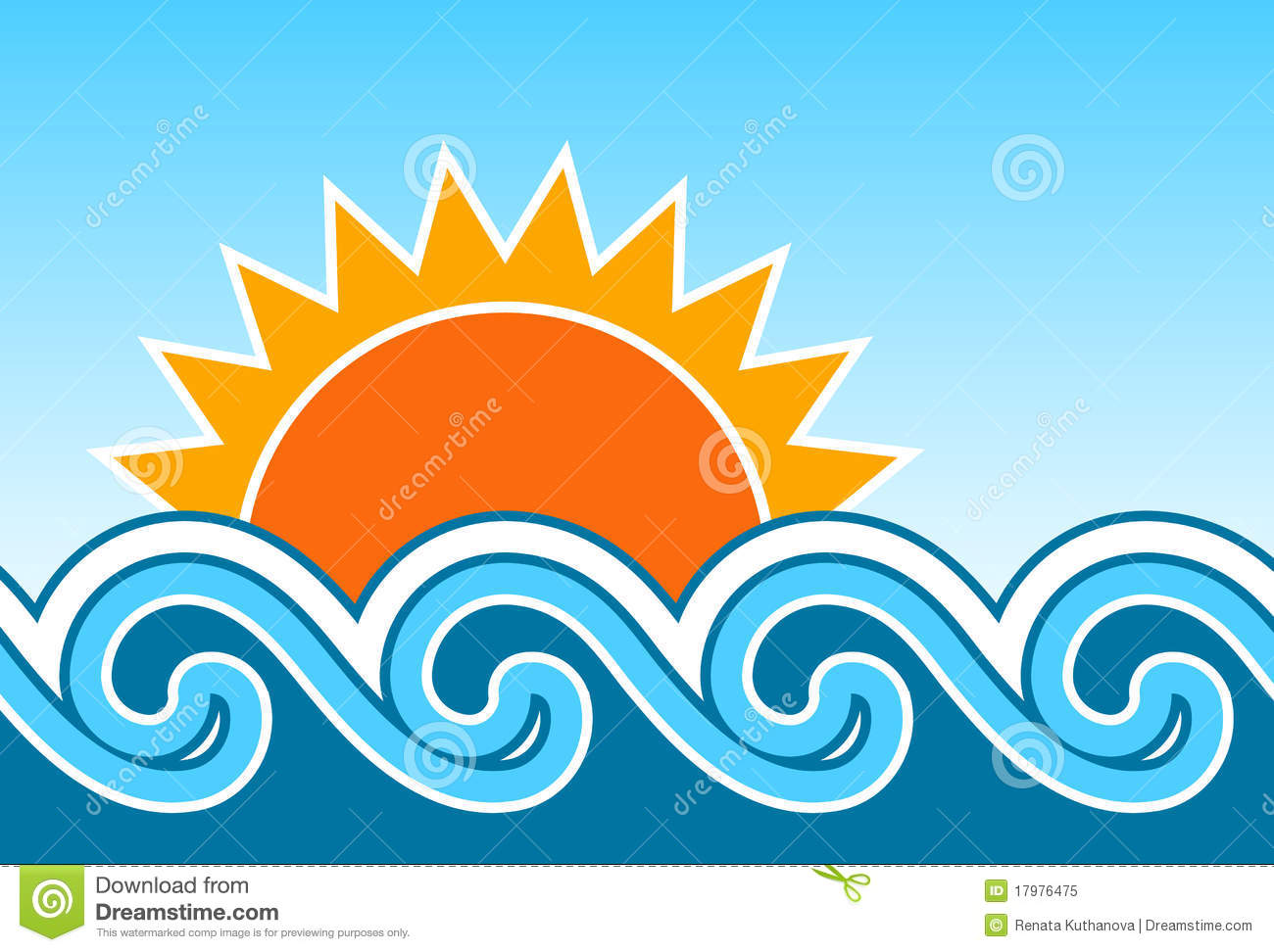 sun and waves royalty free stock photo image 17976475