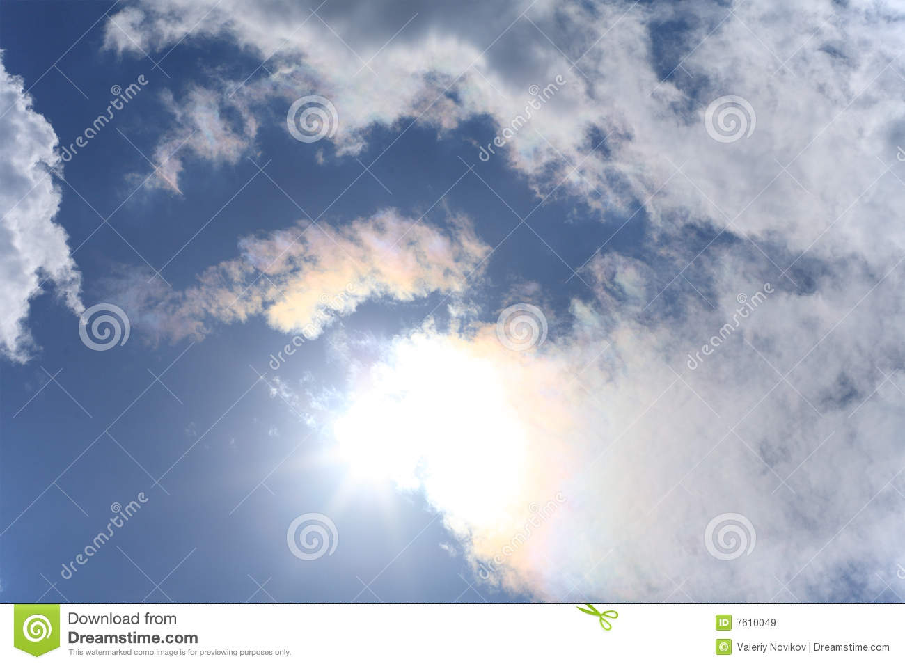 sun and white clouds - photo #11