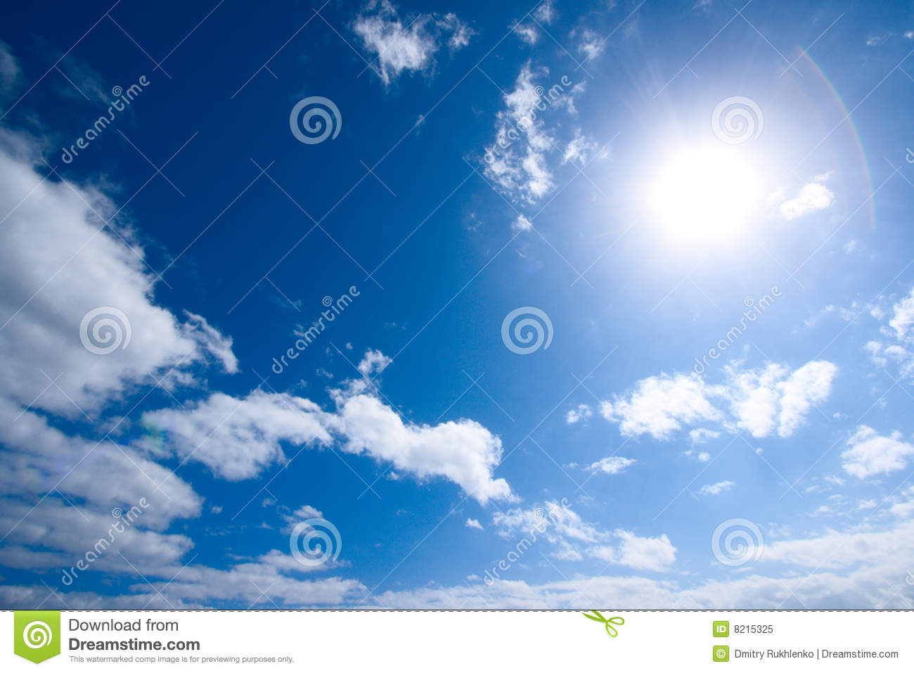 sun and white clouds - photo #9