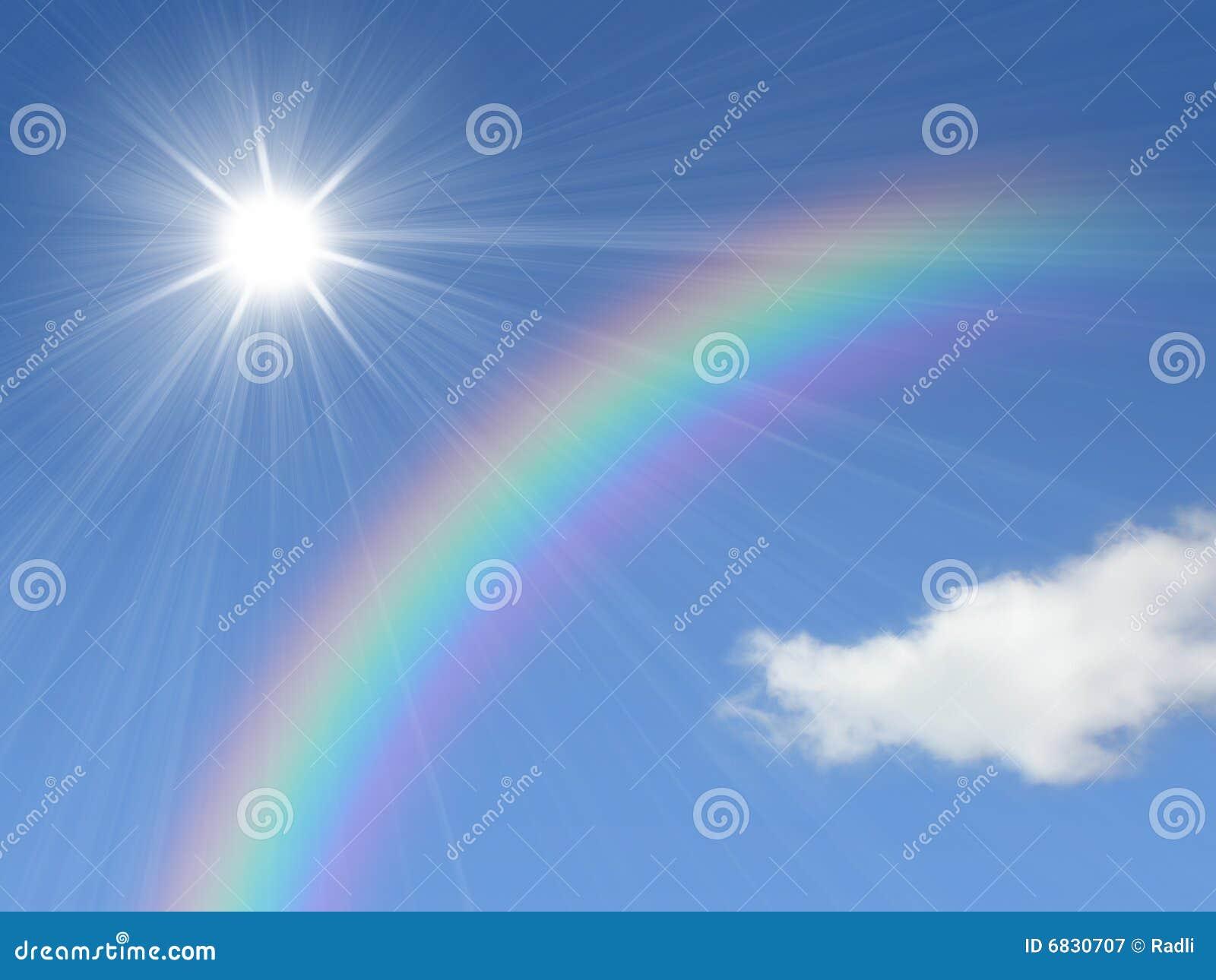 Sun y arco iris