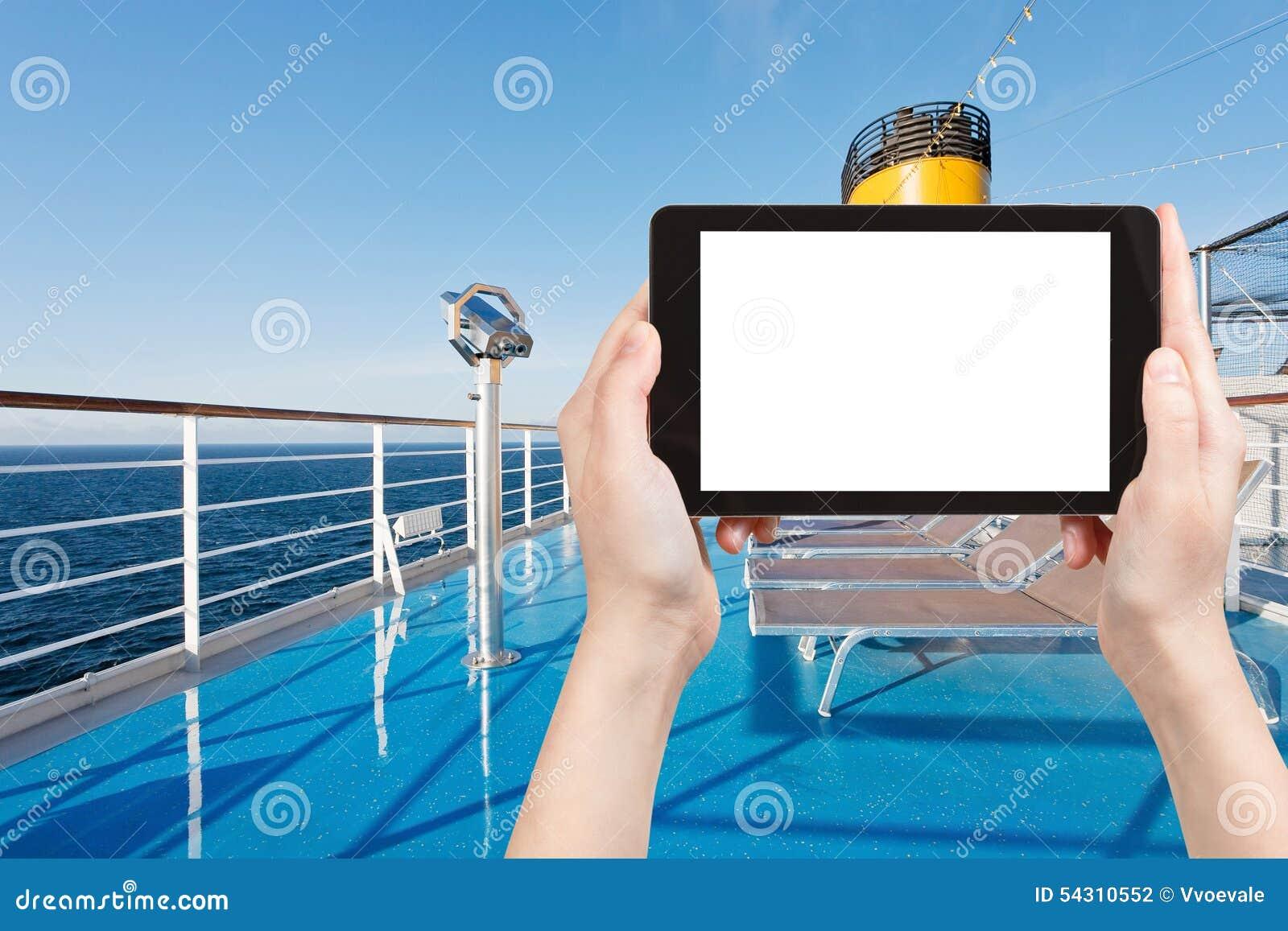 Sunbath椅子照片在巡航划线员甲板的