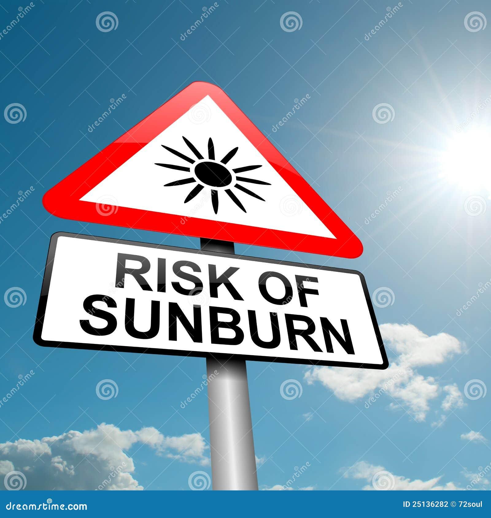 sunburn risk concept  stock photography