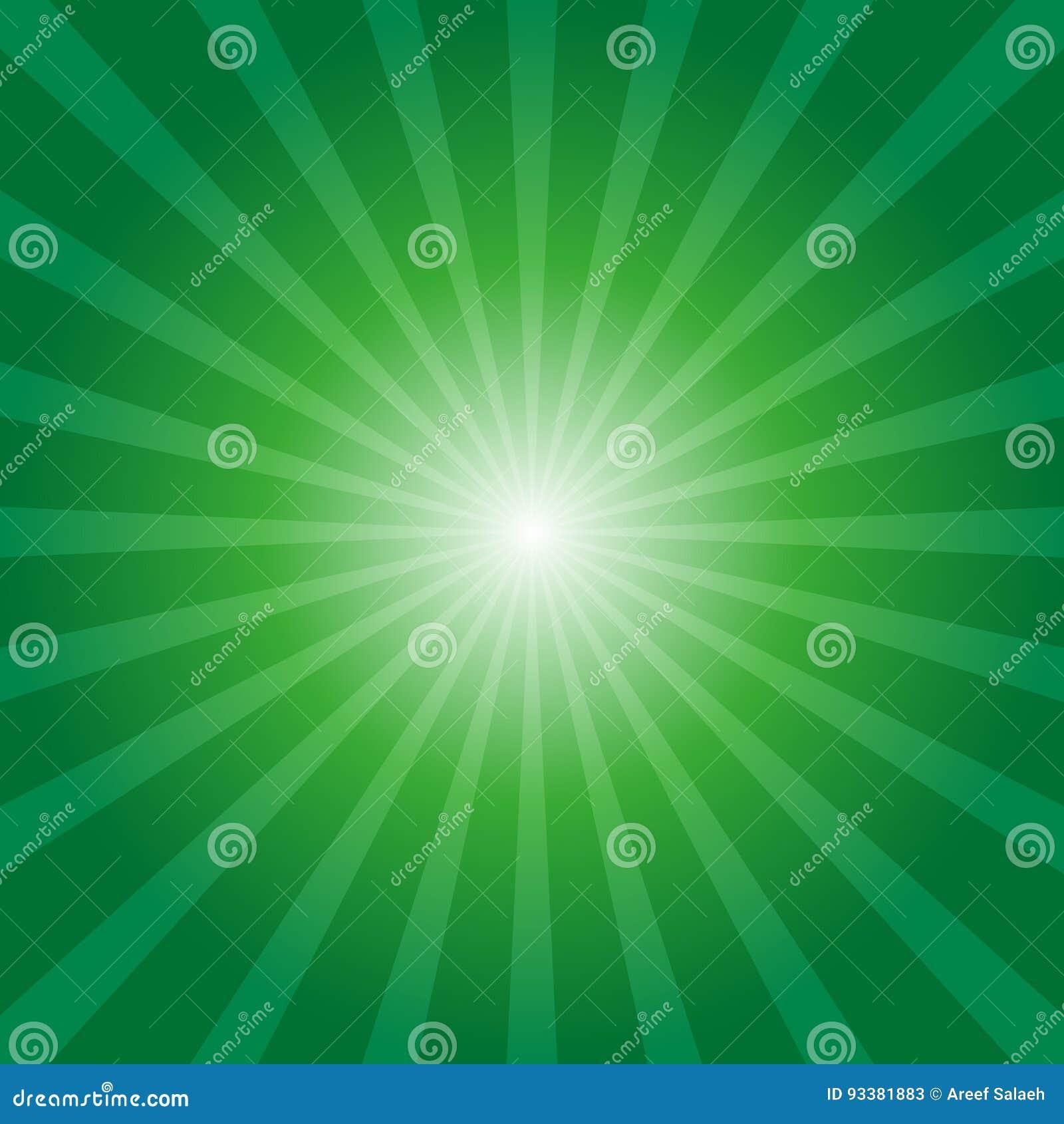 Sunburst предпосылки зеленый