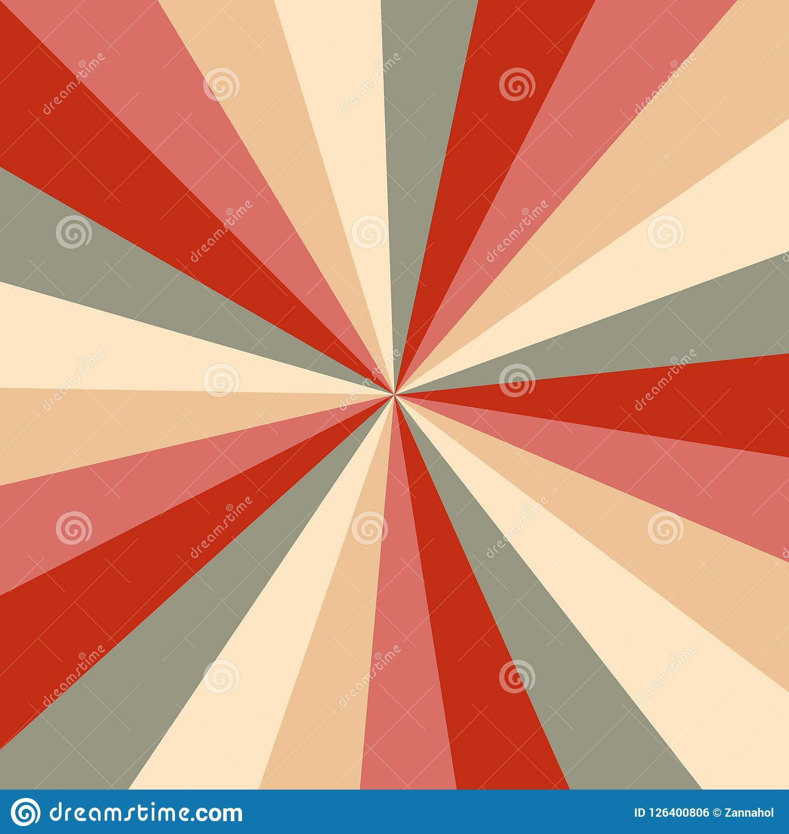 Christmas Colors Palette.Sunburst Background Vector Pattern With A Vintage Color