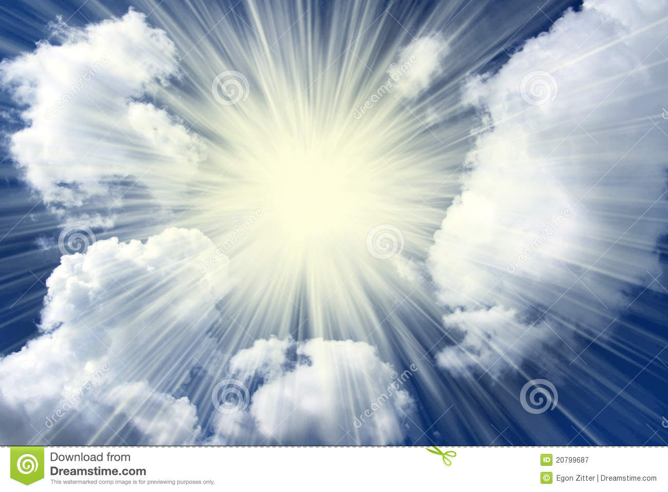 Sunburst Clouds Royalty Free Stock Photography - Image: 20799687