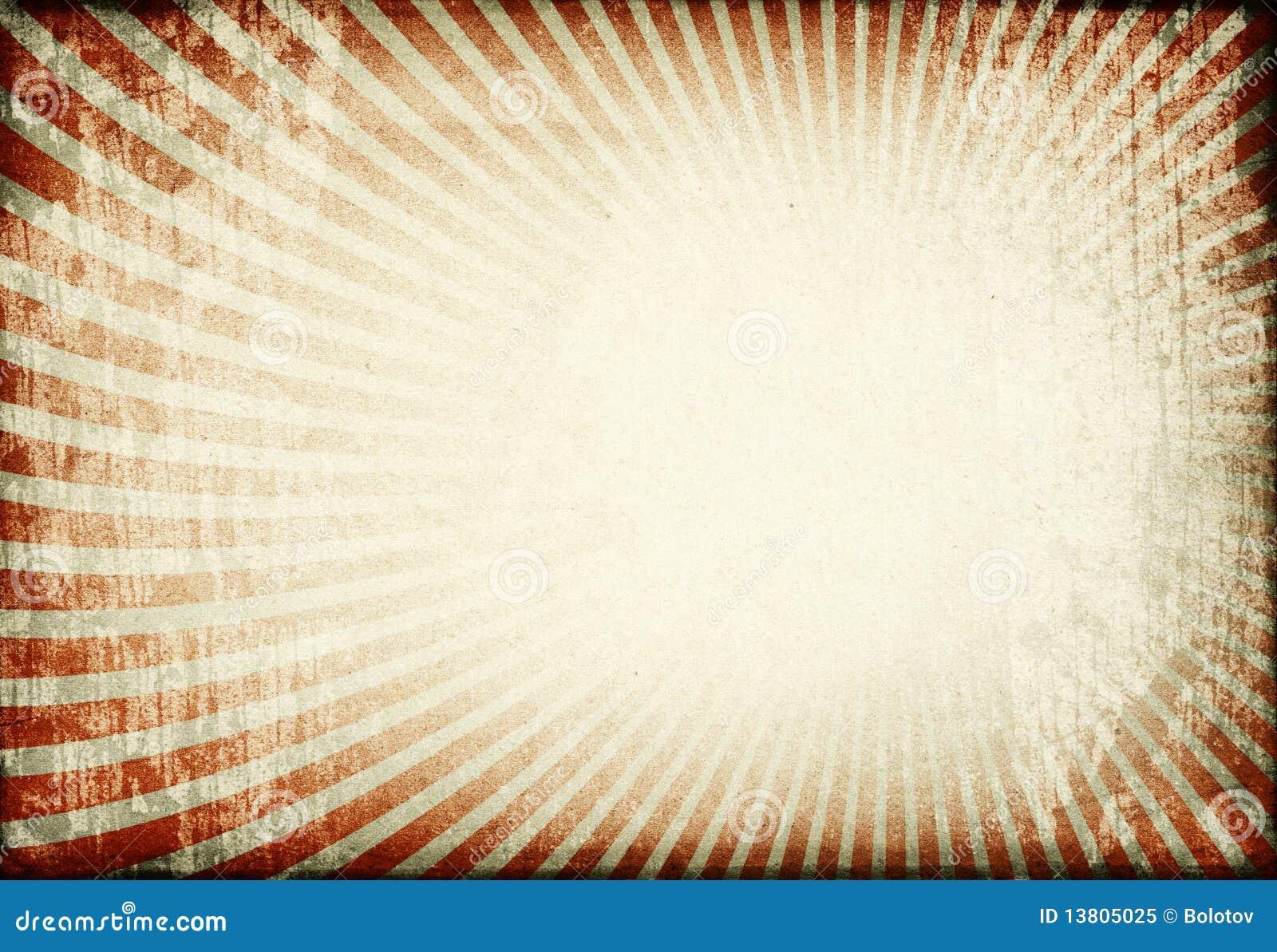 sunburst image on old grunge paper background  royalty