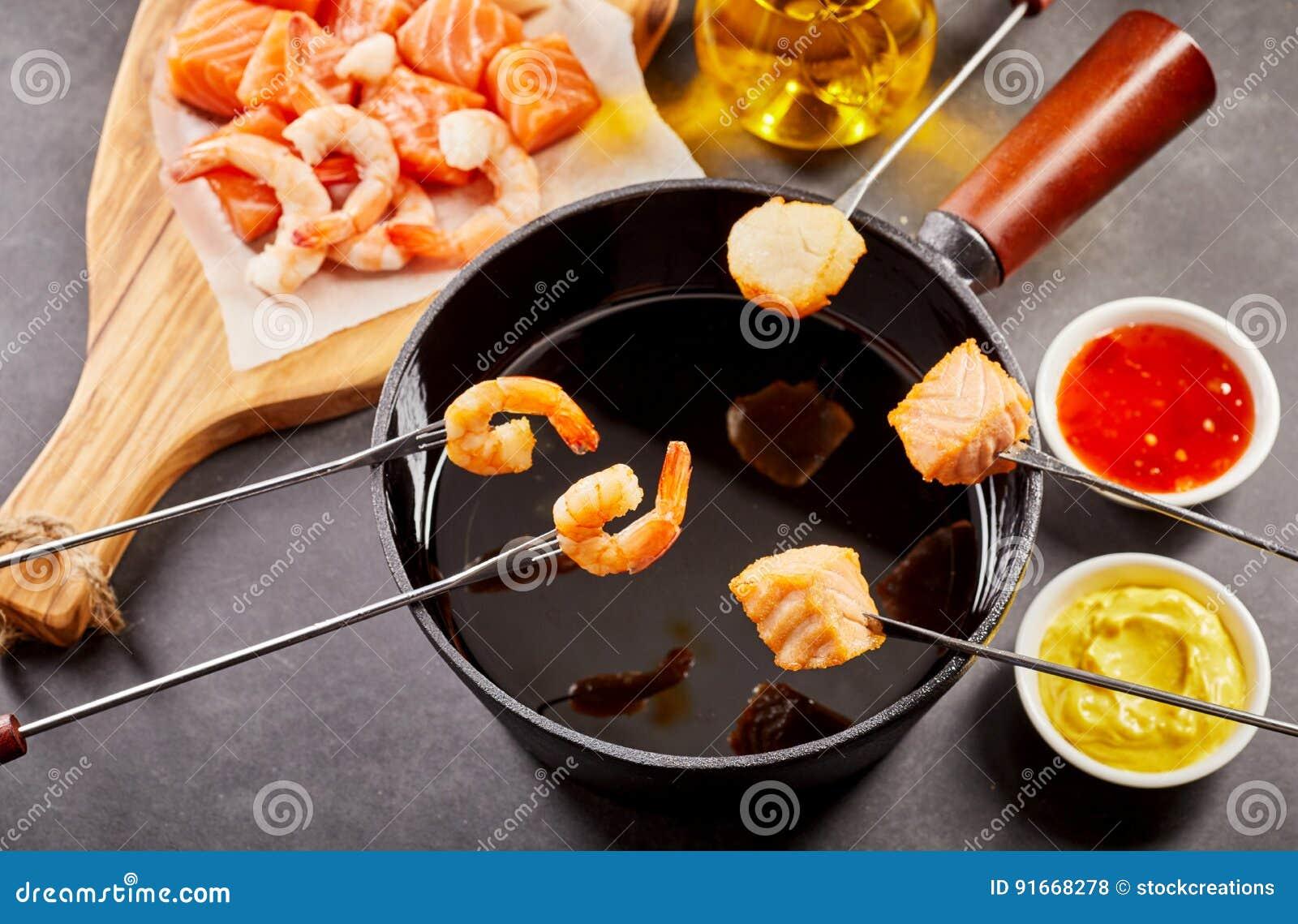 fondue recept olja