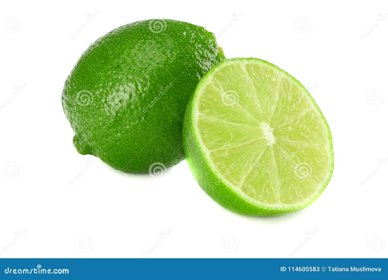Sund mat bakgrund isolerad limefrukt skivad white