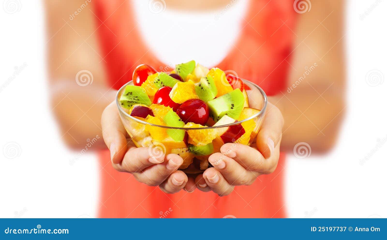 Sund sallad för frukt