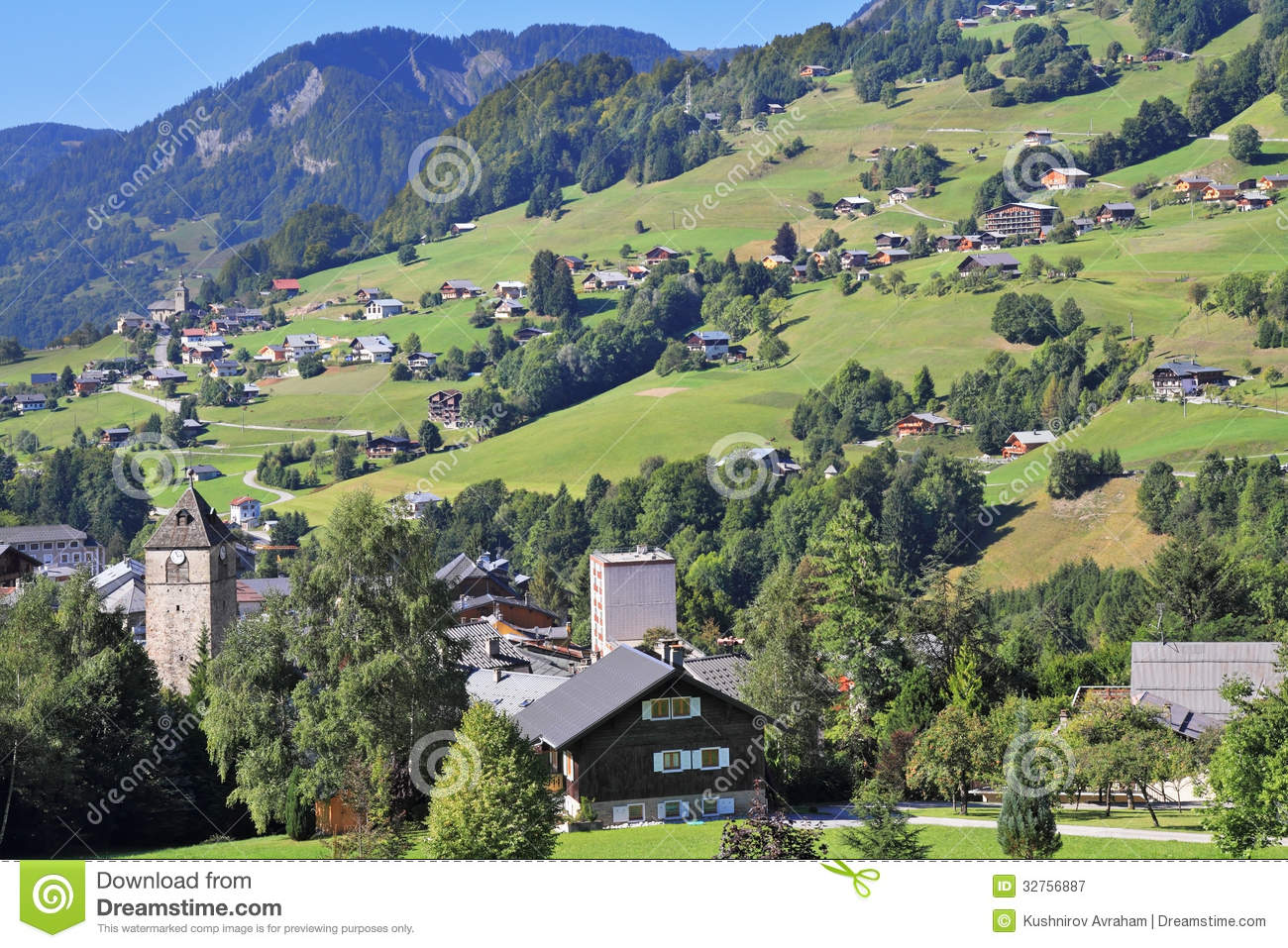The sunday afternoon in the haute savoie stock image for Haute savoie