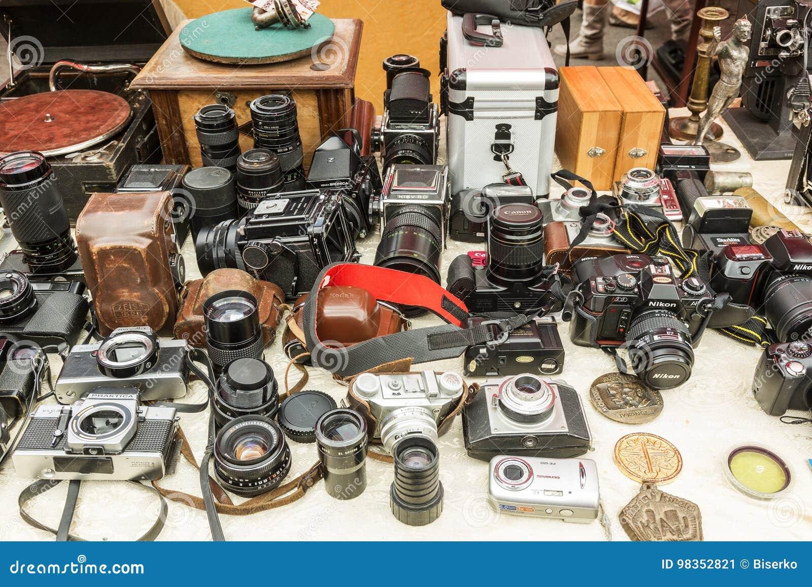 Sunday Antique Market In Zagreb, Croatia Editorial Photo