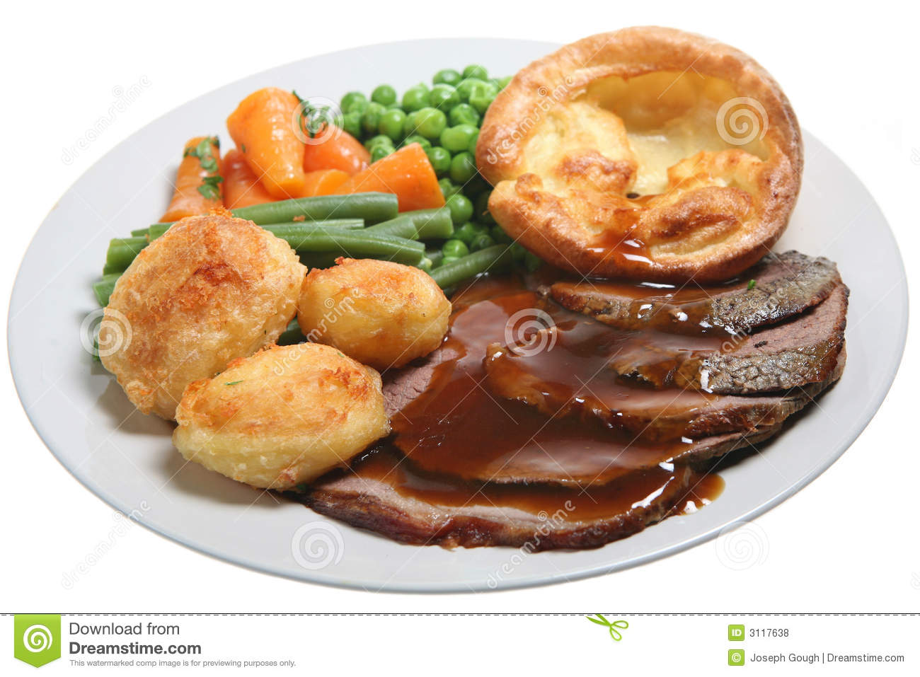 Sunday Roast Beef Dinner Royalty Free Stock Photos - Image ...