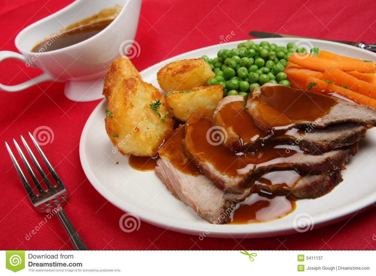 Sunday Roast Lamb Dinner Royalty Free Stock Photography ...