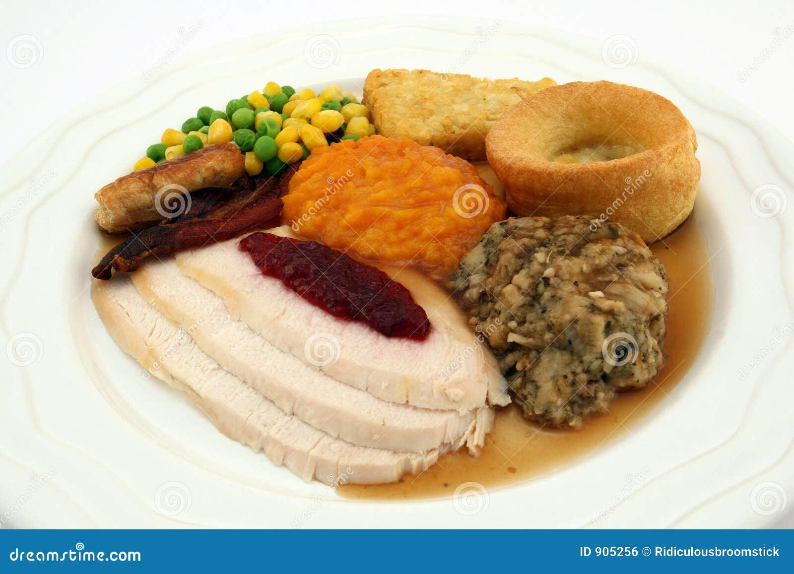 Sunday Roast - Thanksgiving Turkey Dinner Royalty Free ...
