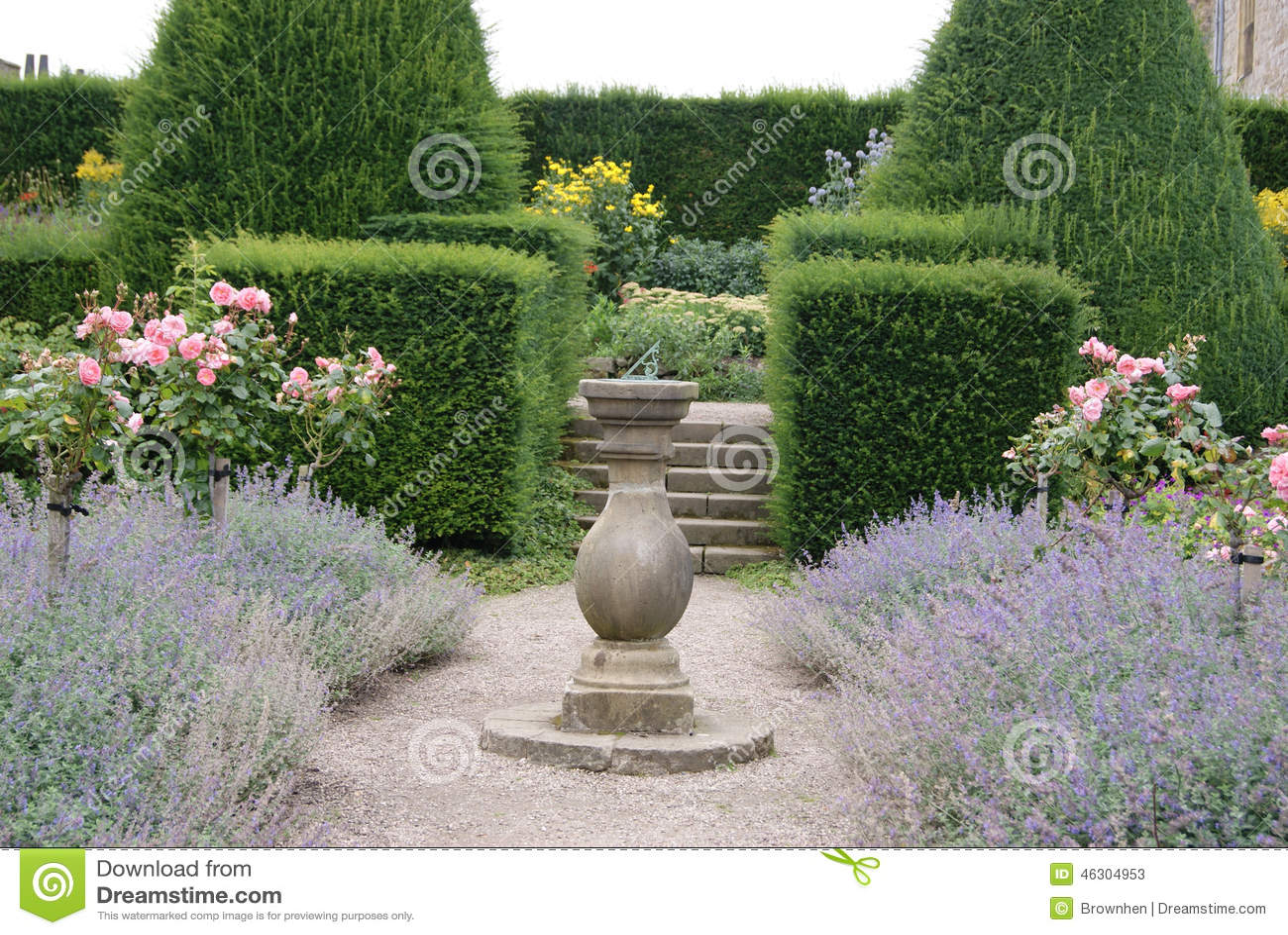 Sundial In Garden