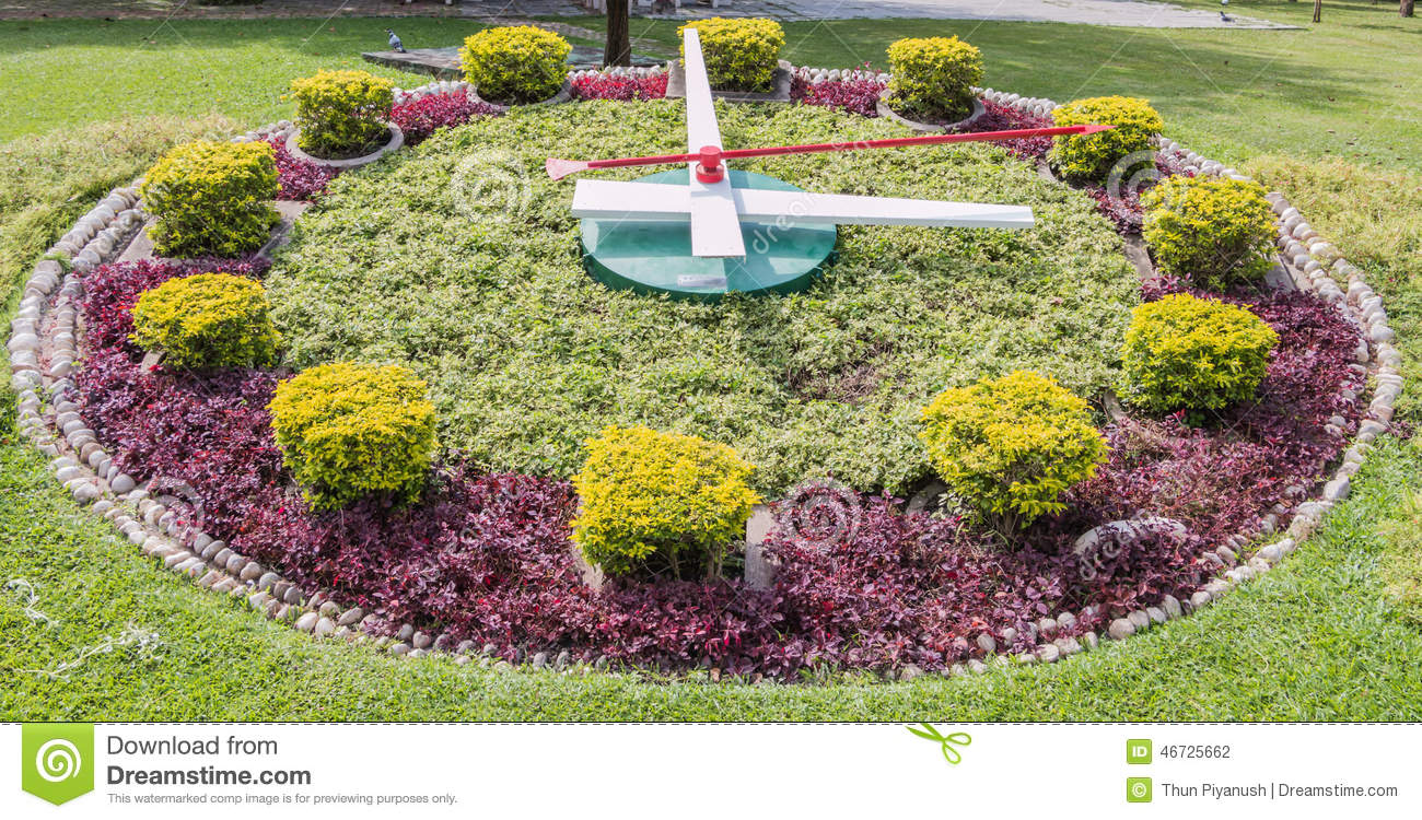 Download Sundial In Garden In Jatujak Park Stock Photo   Image Of  Beautiful, Famous: