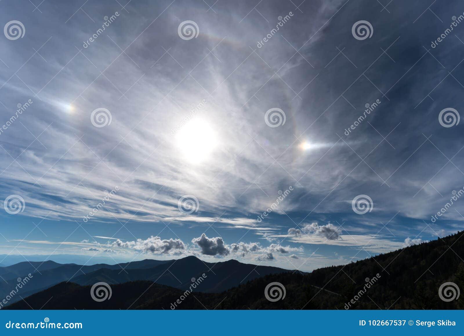 Sundog w górach
