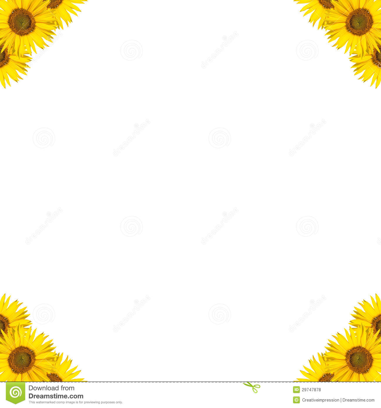 Sunflower Border Design Royalty Free Stock Photos - Image: 29747878