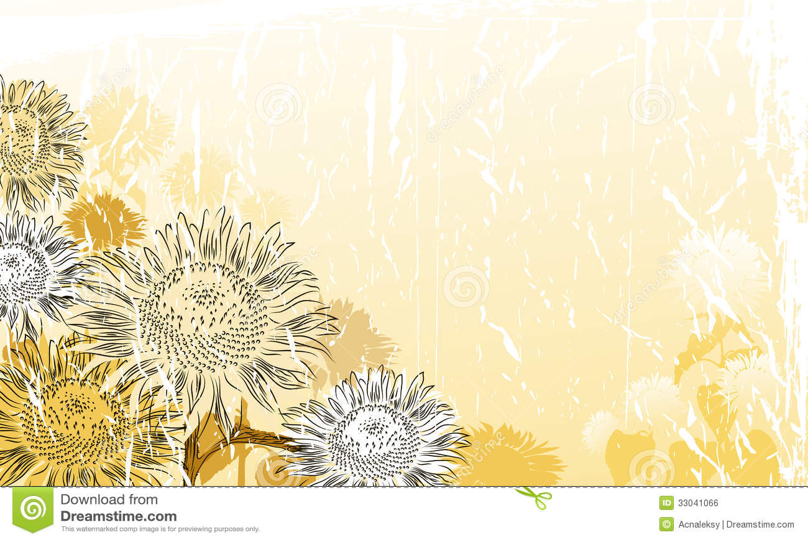 Sunflower Background Stock Vector Illustration Of Crop