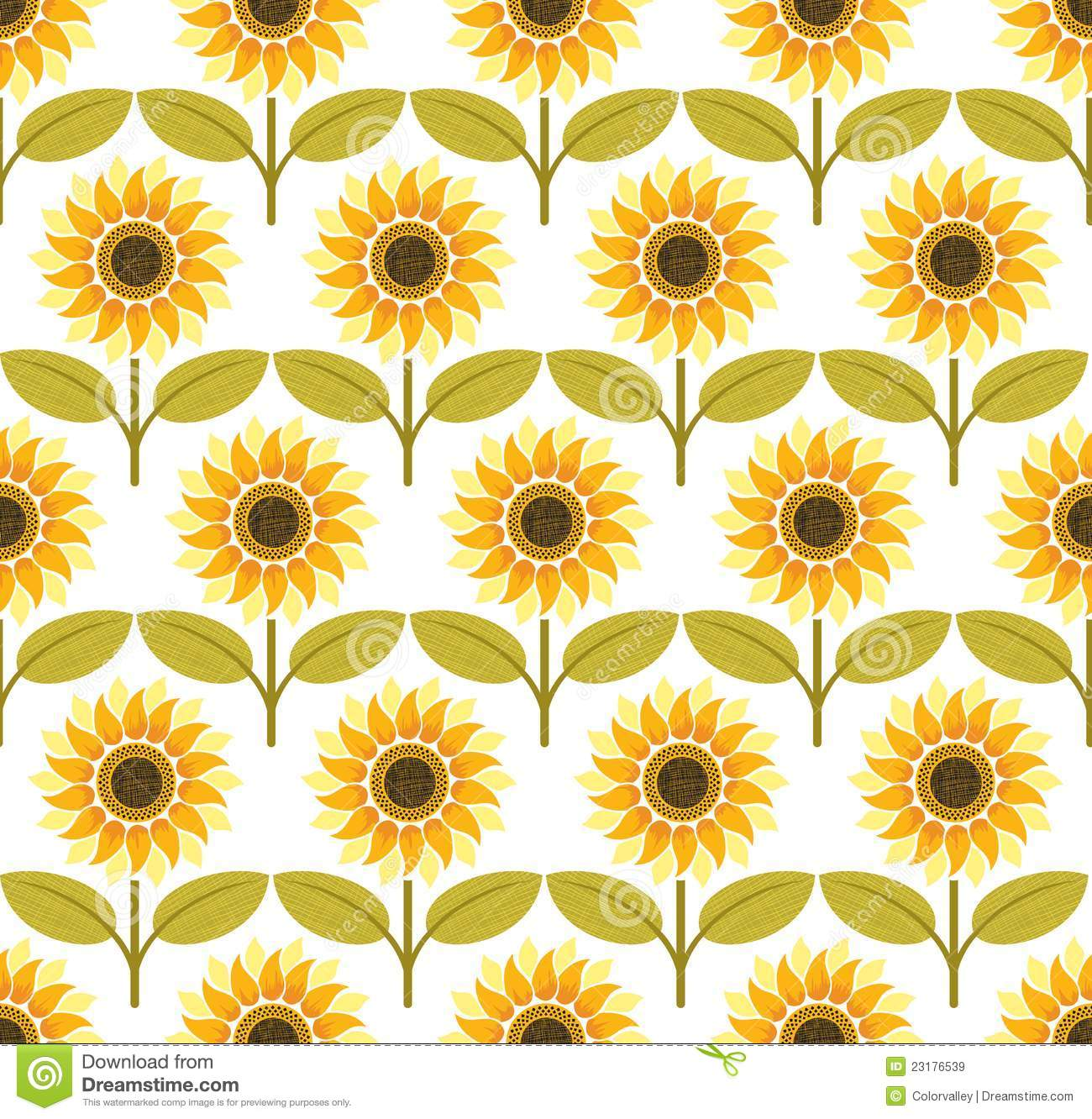 Download Sunflower Background Pattern Vector Stock