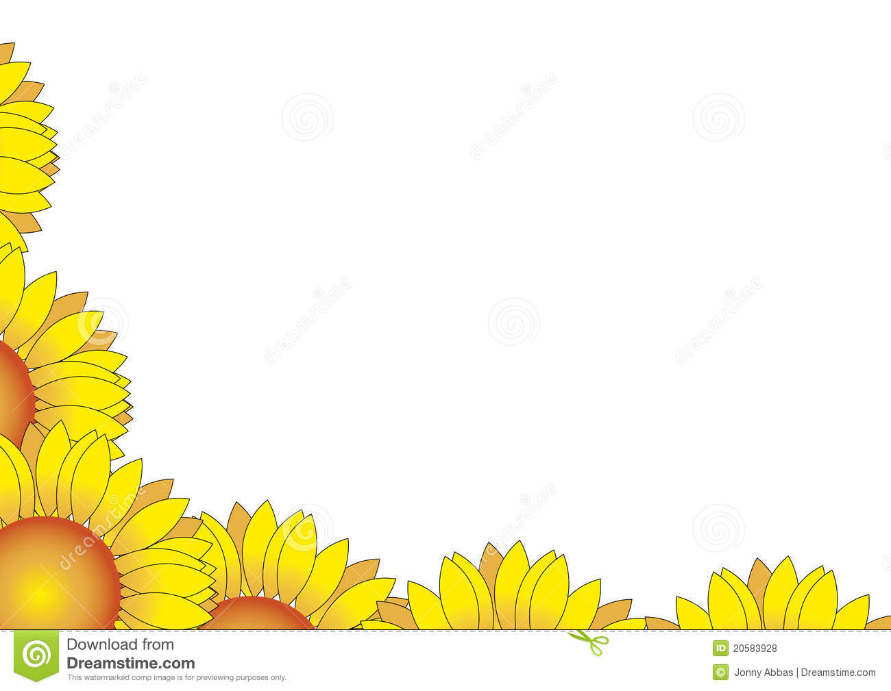 The gallery for --> Sunflower Corner Border Clipart