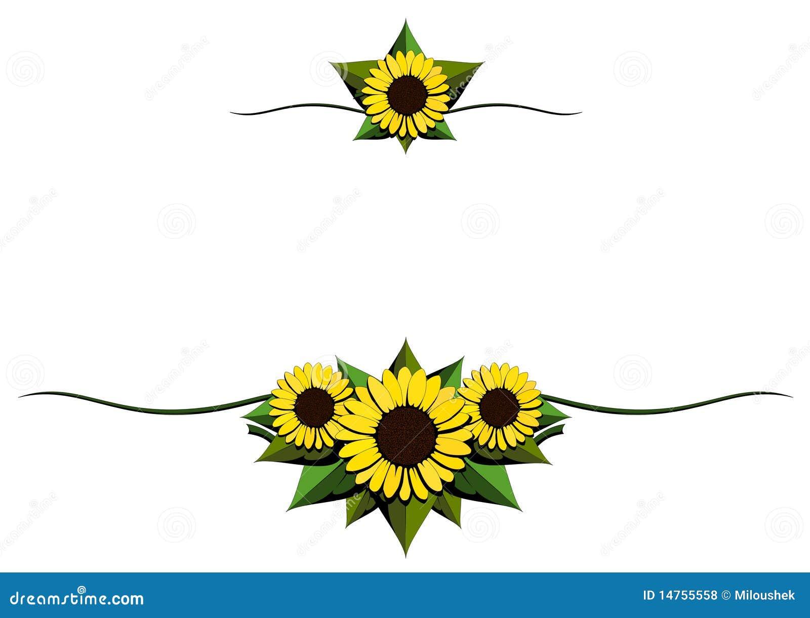 Sunflower Cartoon Background Stock Illustration Illustration Of