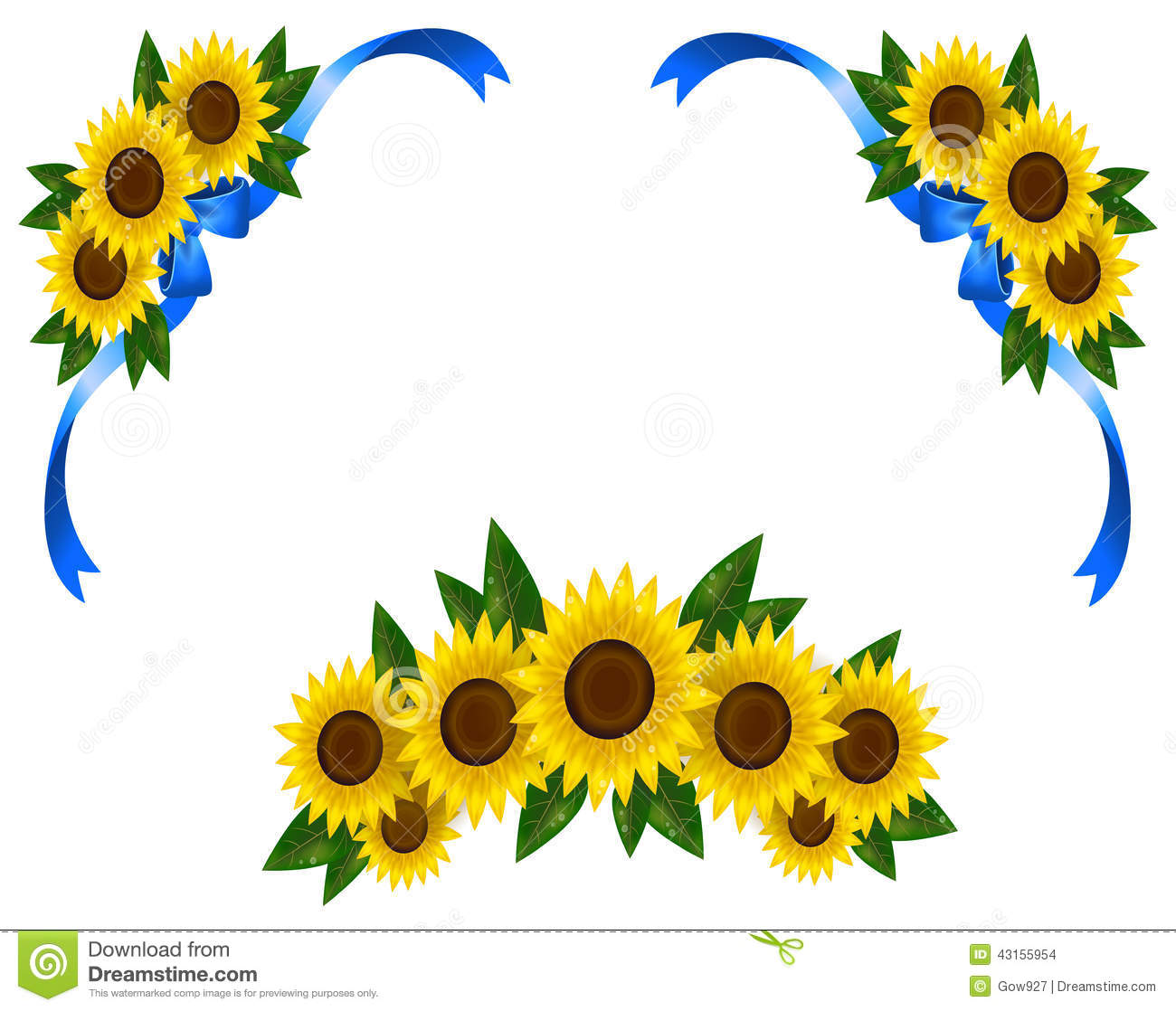 sunflower decoration icon border ribbon  vector  stock World Travel Clip Art time travel clip art