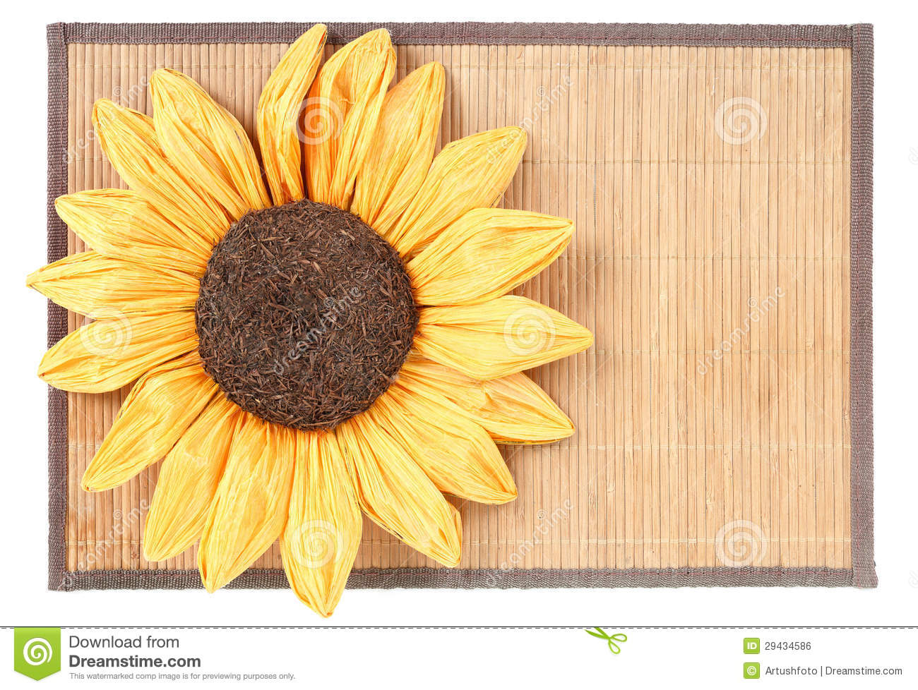 Sunflower Decoration On Wooden Table Royalty Free Stock ...