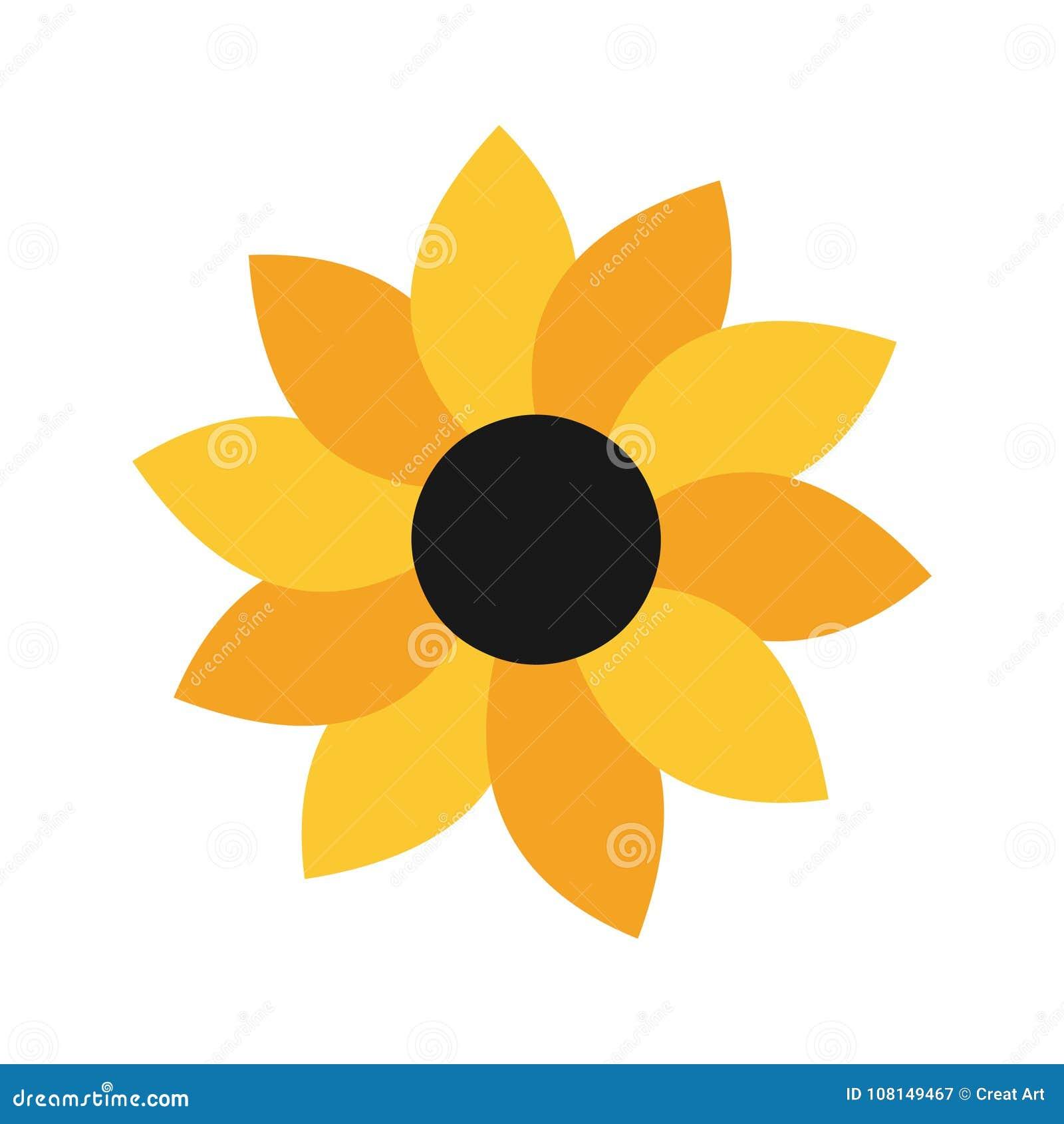 Sunflower Logo Iconctor Illustration Of Yellow Flower Stock
